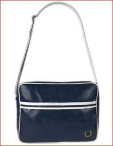 Fred Perry Blue Shoulder Bag