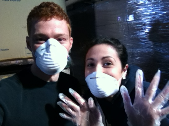 Teresa and I with Masks!